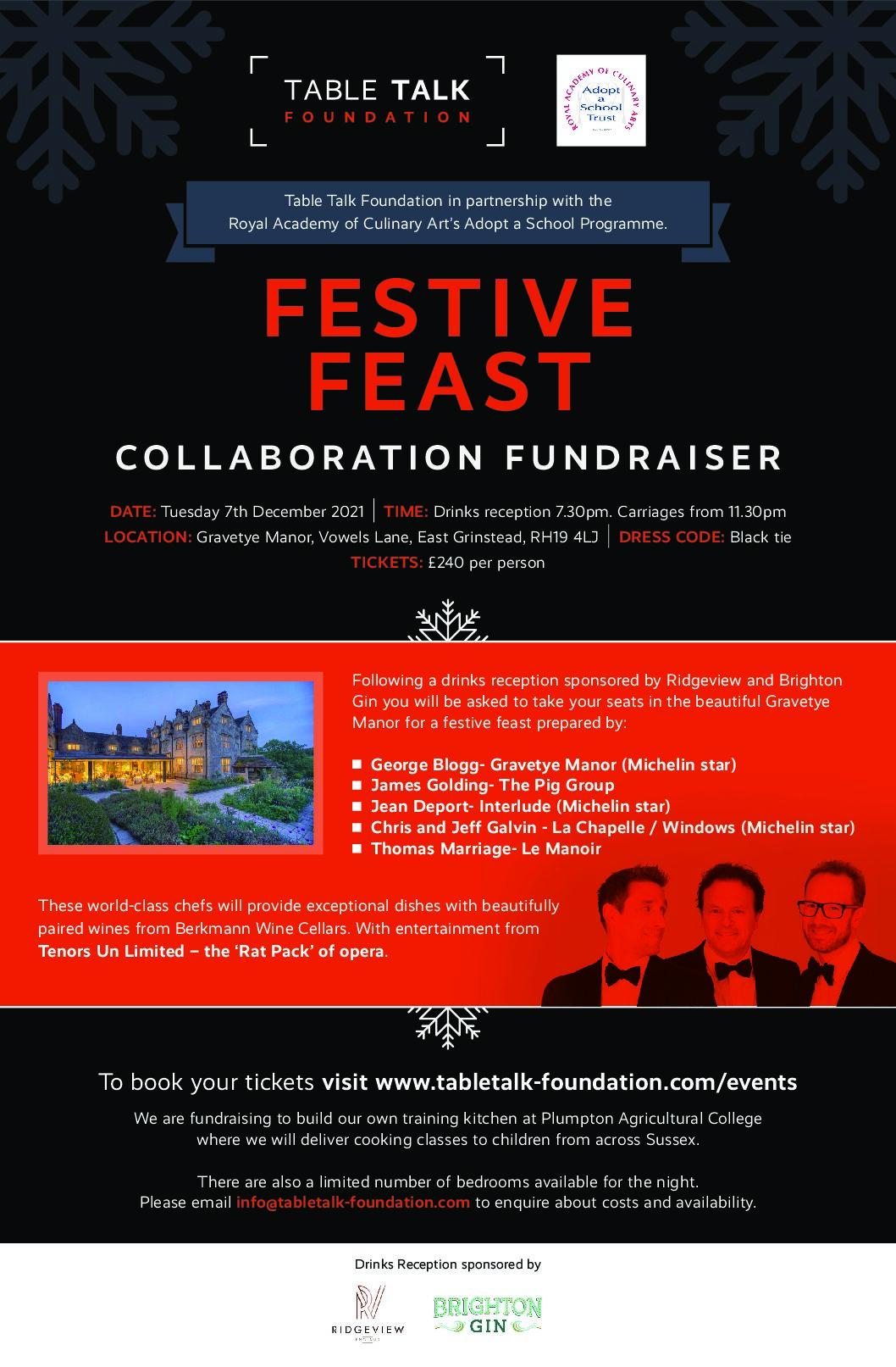 Table Talk Festive Fundraiser